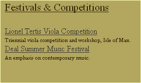 Festivals & Competitions
